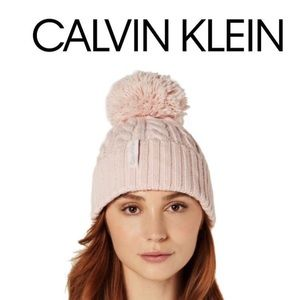CALVIN KLEIN Hat Knitted Cable Beanie Petal Pink💎